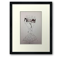 Plain Zombie Gamer Framed Print
