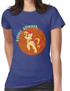 SunsetShimmerGlitter Womens Fitted T-Shirt