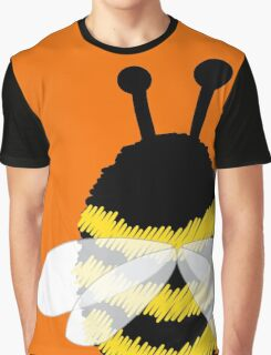 Bumble Bee on Orange. Graphic T-Shirt