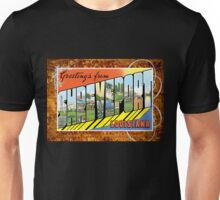 Shreveport Louisiana Vintage Souvenir Greeting Post Card Unisex T-Shirt