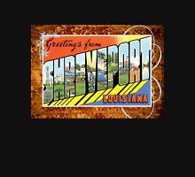 Shreveport Louisiana Vintage Souvenir Greeting Post Card Unisex T-Shirt