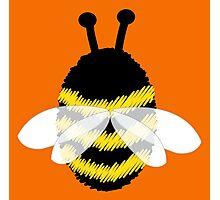 Bumble Bee on Orange. Photographic Print