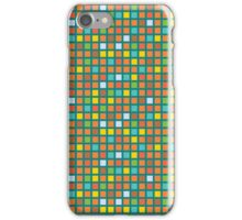 retro color geometric pattern 1 iPhone Case/Skin
