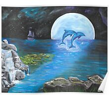 Moon Light Swim Poster
