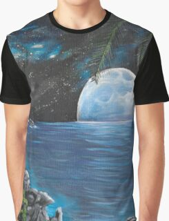 Moon light Island Graphic T-Shirt