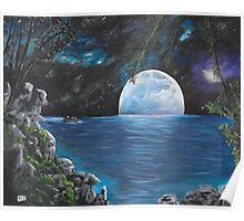 Moon light Island Poster