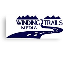 Winding Trails Media Blue Logo Canvas Print