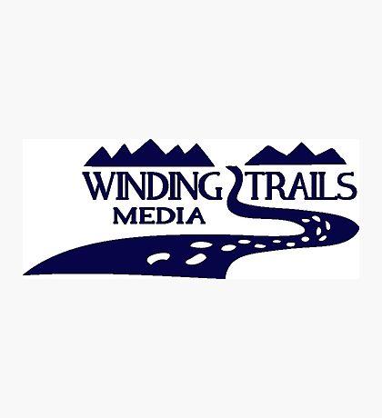 Winding Trails Media Blue Logo Photographic Print