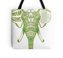 Psychedelic Elephant Tote Bag