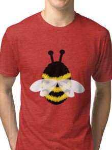 Bumble Bee on white Tri-blend T-Shirt