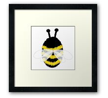 Bumble Bee on white Framed Print