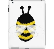 Bumble Bee on white iPad Case/Skin