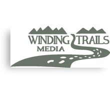 Winding Trails Media Grey Logo Canvas Print