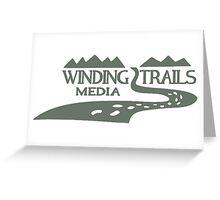 Winding Trails Media Grey Logo Greeting Card