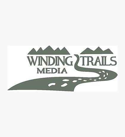 Winding Trails Media Grey Logo Photographic Print