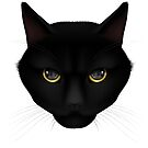 BLACK CAT by Hares & Critters