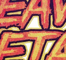 HEAVY METAL! ( Red Splatter Typo Design ) Sticker