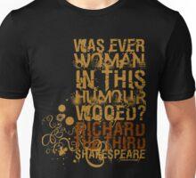 Richard III Wooed Quote (Colour) Unisex T-Shirt