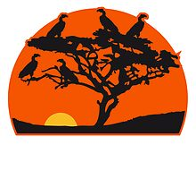 Vulture tree Africa savanna by Style-O-Mat
