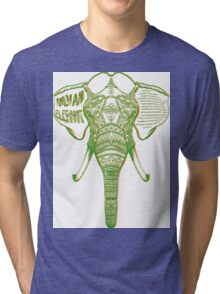 Psychedelic Elephant Tri-blend T-Shirt