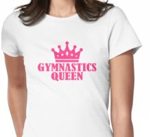 Gymnastics Queen Womens Fitted T-Shirt