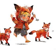 Foxes by Henry Castelein