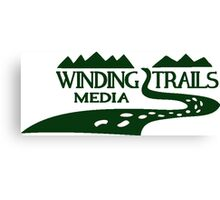 Winding Trails Media Green Logo Canvas Print