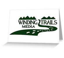 Winding Trails Media Green Logo Greeting Card