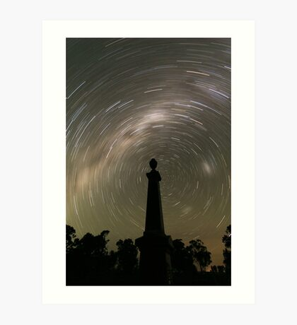 Startrails from the grave! Art Print