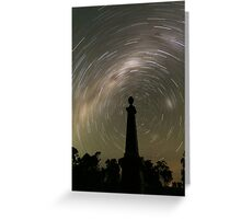 Startrails from the grave! Greeting Card