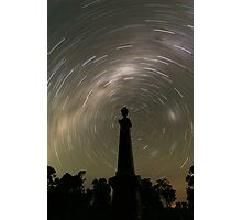 Startrails from the grave! Photographic Print