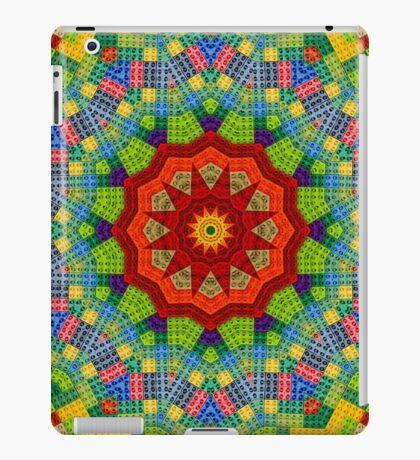 Lego, Mandala, Pixel Art, Colorful Design, Pattern, Brick, Build, iPad Case/Skin