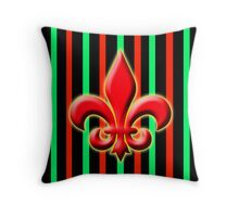 Classically French in Red Throw Pillow