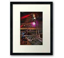 RayGun Rex V Tripods Framed Print