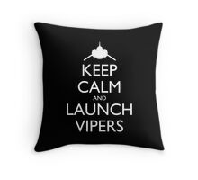 Keep Calm and Launch Vipers Pillow (black) Throw Pillow