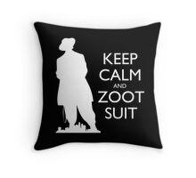 Keep Calm & Zoot Suit - El Pachuco (black) Throw Pillow