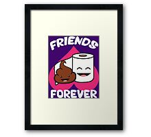 Friends Forever - Poop and Toilet Paper Roll Framed Print