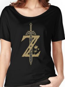 Zelda Breath of the Wild (Black) Women's Relaxed Fit T-Shirt