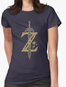 Zelda Breath of the Wild (Black) Womens Fitted T-Shirt