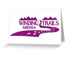 Winding Trails Media Purple Logo Greeting Card