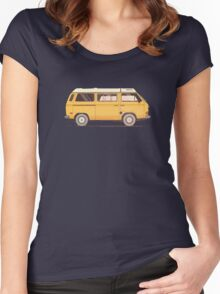 VW Westy Campervan Women's Fitted Scoop T-Shirt