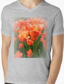 High Key Tulips Mens V-Neck T-Shirt