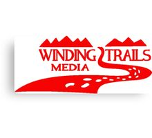 Winding Trails Media Red Logo Canvas Print