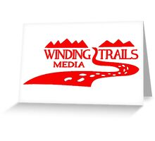 Winding Trails Media Red Logo Greeting Card