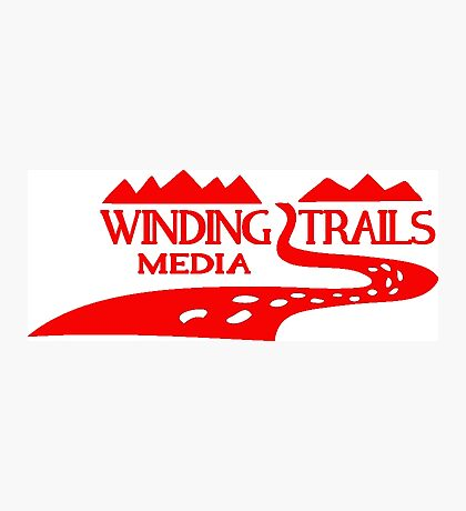 Winding Trails Media Red Logo Photographic Print