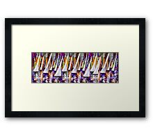 Wind on Sails Panorama by Lena Owens Framed Print