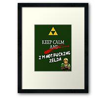 NOT ZELDA Framed Print