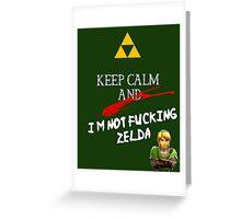NOT ZELDA Greeting Card