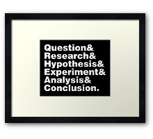 Scientific Method Helvetica Framed Print