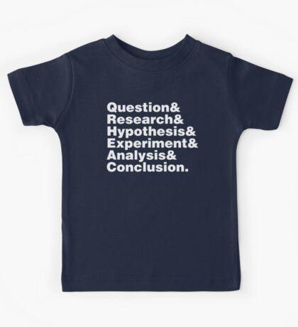 Scientific Method Helvetica Kids Tee